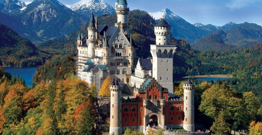 Neuschwanstein Castle's Grandeur in Germany
